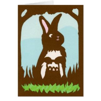 Easter Rabbit Greeting Card