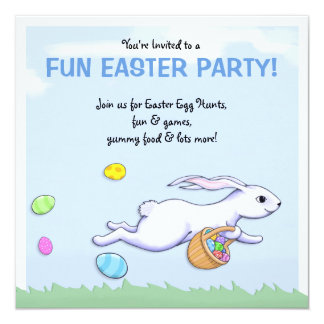Easter Rabbit Run Easter Party Invitation