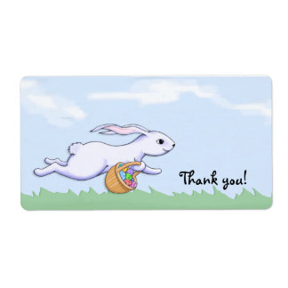 Easter Rabbit Run Thank You Party Favor Gift Tag Shipping Label