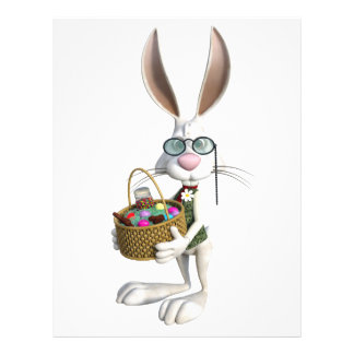 Easter Rabbit with Easter Basket Customized Letterhead