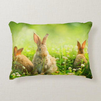 Easter Rabbits Accent Pillow