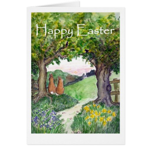Easter Rabbits Greeting Card