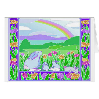 Easter Rainbow - Note Card