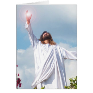 Easter Ressurected God Jesus Christ Greeting Card