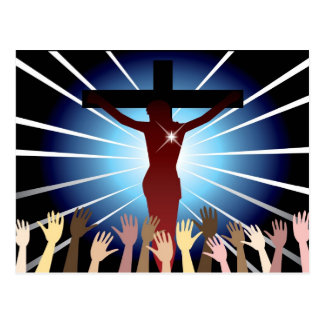 Easter Resurrection Cross Postcard