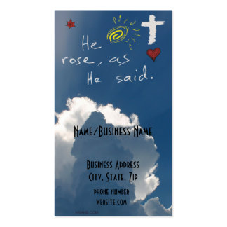 Easter Resurrection He Is Risen Jesus Rose Pack Of Standard Business Cards
