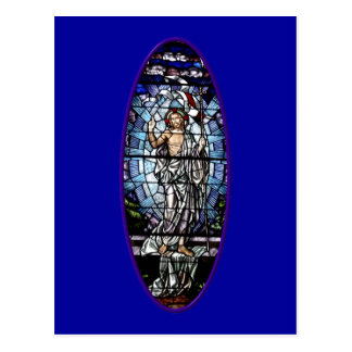 Easter: Resurrection of Christ stained glass Postcard