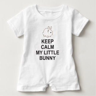 Easter Romper suit KEEP CALM MY LITTLE BUNNY