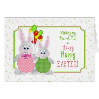 Easter -  Secret Pal - Bunnies & Balloons Card