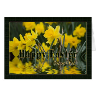 Easter - Secret Pal - Daffodils Greeting Card