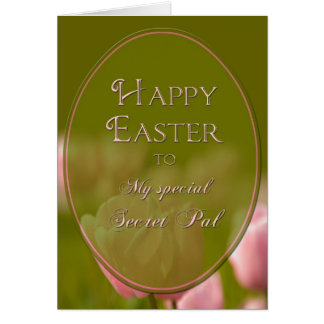 EASTER - SECRET PAL - TULIPS GREETING CARD