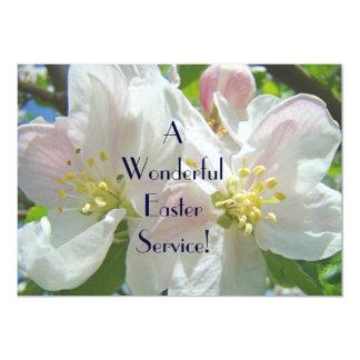 "Easter Service Invitation Programs Church Floral 5"" X 7"" Invitation Card"