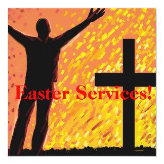 """Easter Services Church Invitation 5.25"""" Square Invitation Card"""