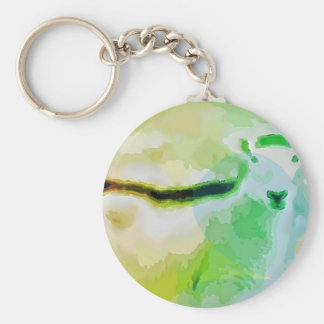 Easter Sheep Basic Round Button Keychain