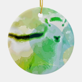 Easter Sheep Round Ceramic Ornament
