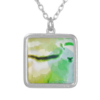 Easter Sheep Silver Plated Necklace