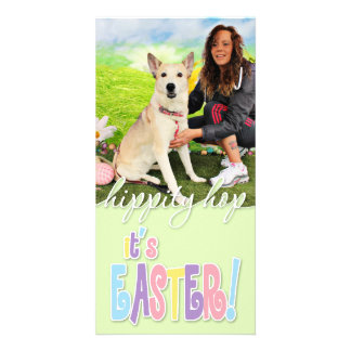 Easter - Siberian Husky - Contessa Personalized Photo Card