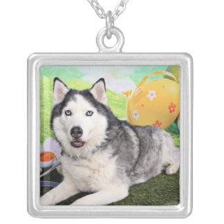 Easter - Siberian Husky - Luka Custom Necklace