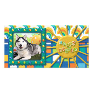 Easter - Siberian Husky - Luka Picture Card