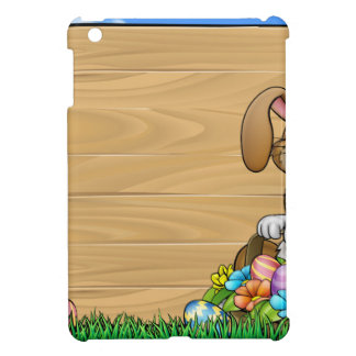 Easter Sign Bunny Eggs Background Cover For The iPad Mini