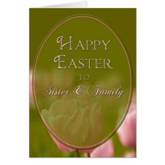 EASTER - SISTER/FAMILY - TULIPS CARD