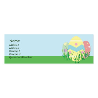 Easter - Skinny Pack Of Skinny Business Cards