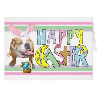 Easter Smiling Bulldog Card