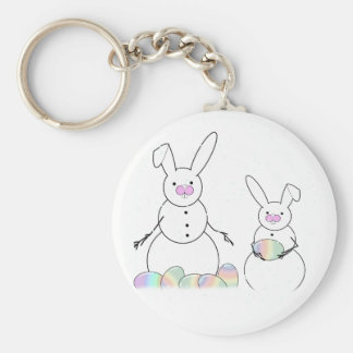 Easter Snowmen Snow Bunnies Key Chains