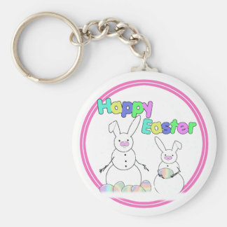 Easter Snowmen Snow Bunnies Keychain