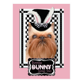 Easter - Some Bunny Loves You - Brussels Griffon Postcard