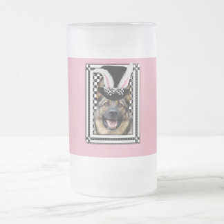 Easter - Some Bunny Loves You - German Shepherd Frosted Glass Beer Mug
