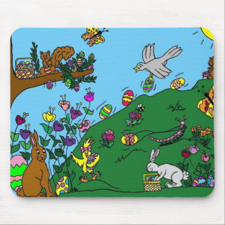 Easter Spring fun Mouse Pad