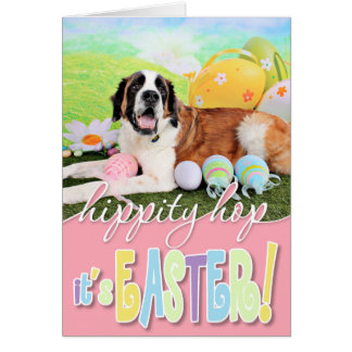Easter - St Bernard - Ozzie Card