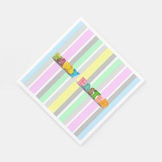 Easter Stripes Paper Napkins