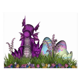 Easter Surprise Baby Dragon Postcard