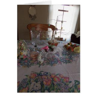 Easter Table Setting, Blessings Card