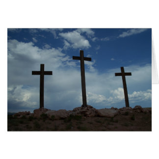 Easter Three Empty Crosses Ressurection Note Card