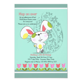 Easter Tulip Border Invitation