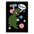 Easter Tyrannosaur Rex Bunny Rabbit Ears Custom Card