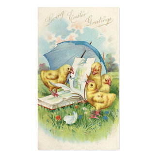 Easter Vintage Holiday Mini Doodles Business Card Template