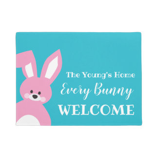Easter Welcome Mat | Every Bunny Welcome