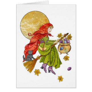 Easter Witch Card