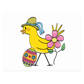 Easter Yellow Bird T-shirts and Gifts Postcard