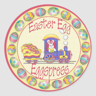 EasterEggspress1 Classic Round Sticker