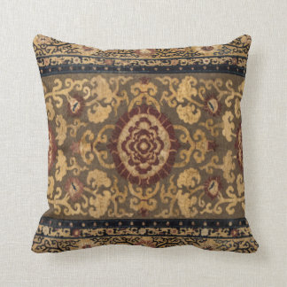 Eastern Accent Vintage Persian Carpet Pattern Throw Pillow