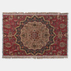 Eastern Accent Vintage Persian Pattern Throw Blanket