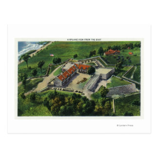 Eastern Aerial View of the Fort Grounds Postcard