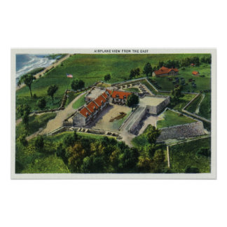 Eastern Aerial View of the Fort Grounds Poster
