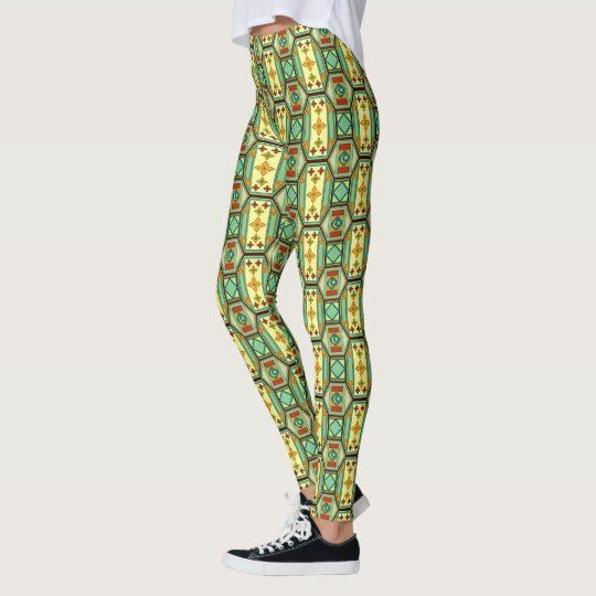Eastern Arabian geometric pattern Leggings