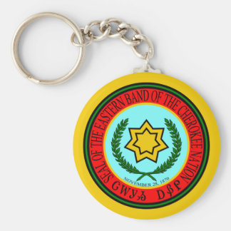Eastern Band Of The Cherokee Seal Keychain